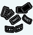 Set cinema tickets vector image