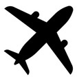 airplane icon black color flat style simple image vector image