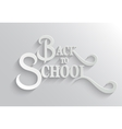 Back to School lettering Greeting Card vector image