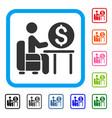 banker office framed icon vector image