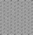 Black and white 3D seamless wave pattern vector image vector image