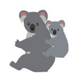 cartoon koala with baby vector image