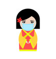 chineese woman in protective mask vector image vector image
