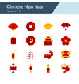 chinese new year icons flat design vector image vector image