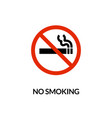 cigarette symbol icon no smoking forbidden vector image vector image