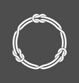 circle frame with knots and three linked loop vector image vector image