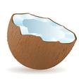 coconut 02 vector image vector image