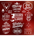 collection typographic christmas design vector image