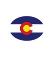 colorado flag state oval vector image vector image