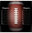 Dark Background of American Football ball vector image vector image
