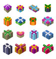 different designs christmas present boxes vector image vector image