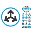 Direction Variants Flat Icon with Bonus vector image vector image