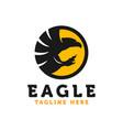 eagle bird modern logo vector image vector image