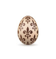 easter egg 3d icon chocolate egg isolated white vector image