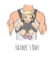 fathers day card retro style vector image
