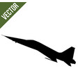fighter jet f-16 silhouette vector image vector image
