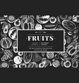 fruits and berries design template hand drawn vector image vector image