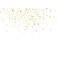 golden stars frame on white background glitter vector image vector image