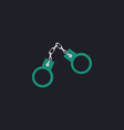 Handcuffs computer symbol vector image