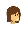 happy cute woman face with hairstyle vector image vector image