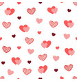 heart texture on white background hand drawn vector image vector image