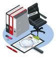 isometric job recruiting advertisement job vector image vector image