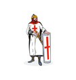 Knight with Shield and Sword Retro vector image vector image