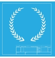 Laurel Wreath sign White section of icon on vector image vector image