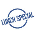 lunch special stamp vector image vector image