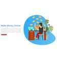 make money online banner inscription business vector image