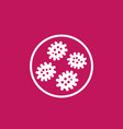 microbes microorganisms icon vector image