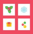 mistletoe plant symbolic image christmas holiday vector image vector image