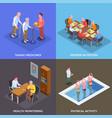 nursing home 2x2 design concept vector image vector image