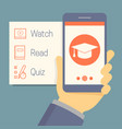 online education concept in flat style hand vector image