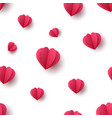paper heart seamless pink pattern vector image