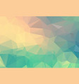 pastel polygonal which consist of triangles vector image vector image