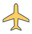 plane line icon simple minimal 96x96 pictogram vector image vector image