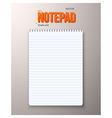 Realistic Notepad Office Equipment vector image vector image