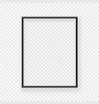 realistic thin black picture frame on a wall vector image vector image