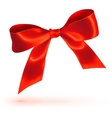Red glossy bow on white background vector image vector image