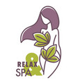 relax and spa center salon logo graphic design vector image vector image