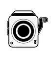 retro camcorder symbol vector image