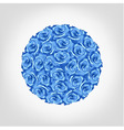 round from blue rose greeting invitation card vector image