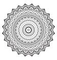 Round mandala kaleidoscopic lace ornamental vector image vector image