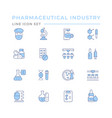 set color line icons pharmaceutical industry vector image vector image