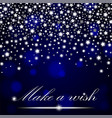 silver shining falling stars on blue ambient vector image vector image