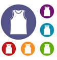 singlet icons set vector image vector image