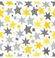 sketchy stars seamless repeat pattern vector image