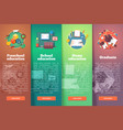 steps of educational process types of knowledge vector image