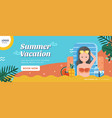 summer vacation banner layout vector image vector image